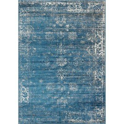 Brandt Oriental Blue Area Rug Rug Size: Rectangle 7 x 10