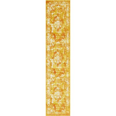 Brandt Yellow/Orange Area Rug Rug Size: Runner 2 x 91