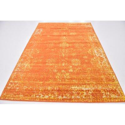 Brandt Orange Area Rug Rug Size: Rectangle 6 x 9