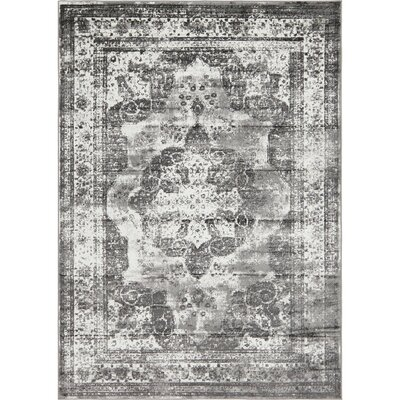 Brandt Gray Area Rug Rug Size: Rectangle 7 x 10