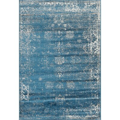 Brandt Oriental Blue Area Rug Rug Size: Rectangle 6 x 9