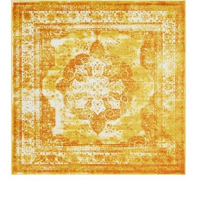 Brandt Yellow/Orange Area Rug Rug Size: Square 8