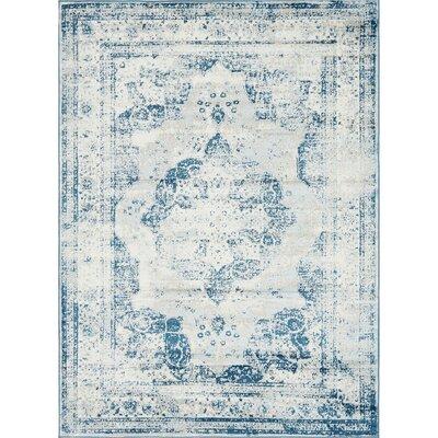 Brandt Tibetan Blue Area Rug Rug Size: Rectangle 8 x 11