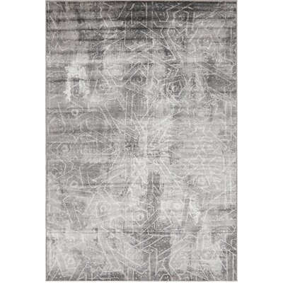 Brandt Dark Gray Area Rug Rug Size: Rectangle 6 x 9