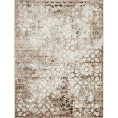 Brandt Brown/Cream Area Rug Rug Size: Rectangle 8' x 11'