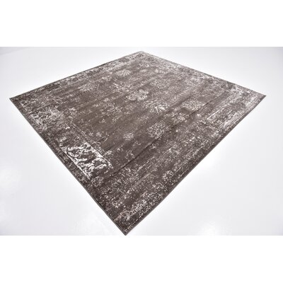 Brandt Brown Area Rug Rug Size: Rectangle 4 x 6