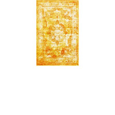 Brandt Yellow/Orange Area Rug Rug Size: Rectangle 33 x 53