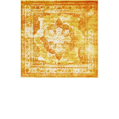 Brandt Yellow/Orange Area Rug Rug Size: Square 6