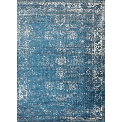 Brandt Oriental Blue Area Rug Rug Size: Rectangle 8' x 11'