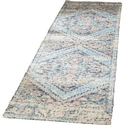 Myers Hand-Loomed Blue/Red Area Rug Rug Size: Runner 23 x 8