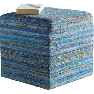 Marlee Viscose Pouf Ottoman Upholstery: Aqua