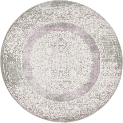 Bryant Green/Ivory Area Rug Rug Size: Round 6