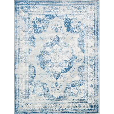Brandt Tibetan Blue Area Rug Rug Size: Rectangle 9 x 12