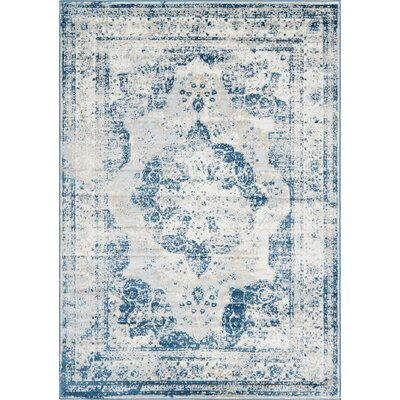 Brandt Tibetan Blue Area Rug Rug Size: Rectangle 7 x 10