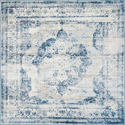 Brandt Tibetan Blue Area Rug Rug Size: Square 8