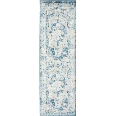 Brandt Tibetan Blue Area Rug Rug Size: Runner 2 x 67