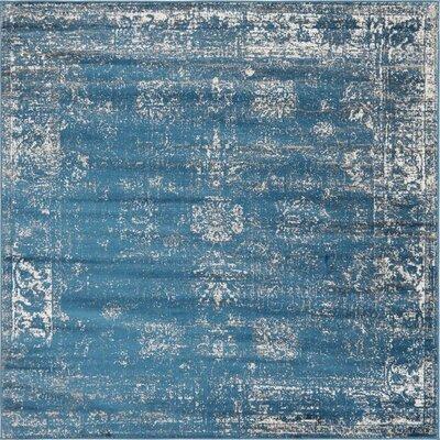 Brandt Oriental Blue Area Rug Rug Size: Square 8'
