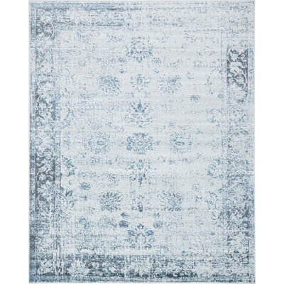 Brandt Light Blue/Ivory Area Rug Rug Size: Rectangle 8 x 10