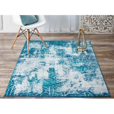 Brandt Blue Area Rug Rug Size: Rectangle 5 x 8