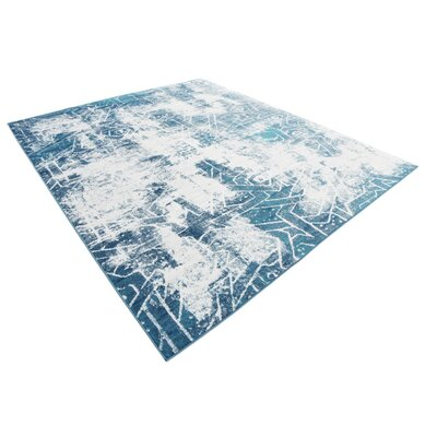 Brandt Blue Area Rug Rug Size: Rectangle 8 x 10