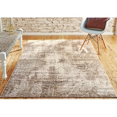 Brandt Dark Beige Area Rug Rug Size: Rectangle 8 x 11