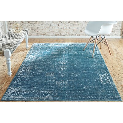 Brandt Oriental Blue Area Rug Rug Size: Rectangle 7 x 10