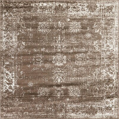Brandt Brown Area Rug Rug Size: Square 8