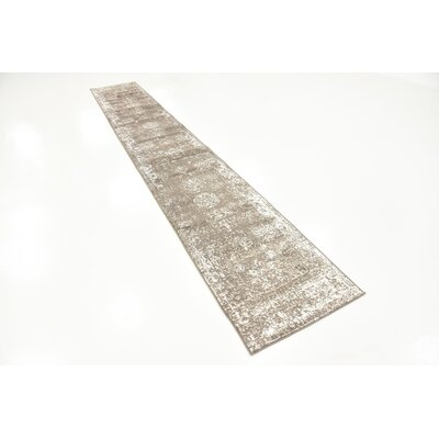 Brandt Brown Area Rug Rug Size: Runner 2 x 13