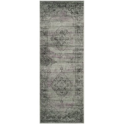 Makenna Light Blue Area Rug Rug Size: Runner 22 x 12