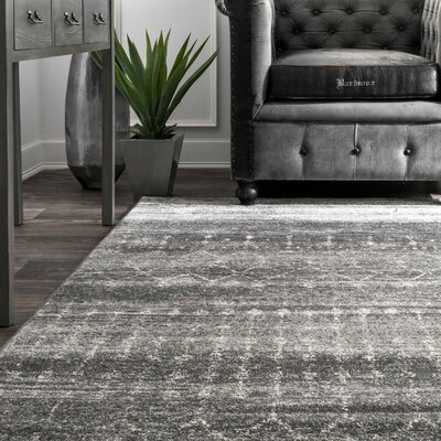 Clair Dark Gray Area Rug Rug Size: Round 8