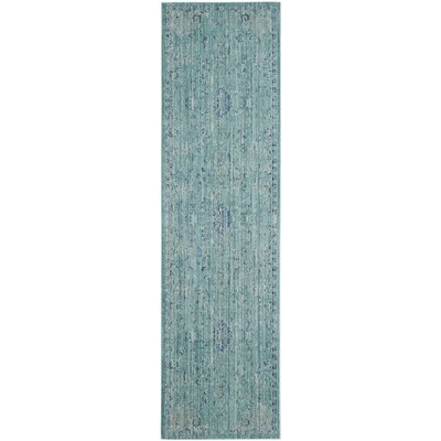 Esmeyer Blue Area Rug Rug Size: Runner 23 x 8