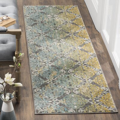 Elson Grey Area Rug Rug Size: Runner 22 x 5