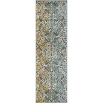 Elson Grey/Ivory Area Rug Rug Size: Runner 22 x 15