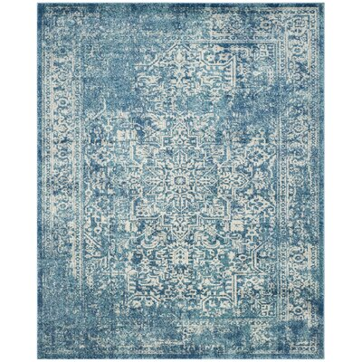 Elson Blue/Ivory Area Rug Rug Size: Rectangle 12 x 18