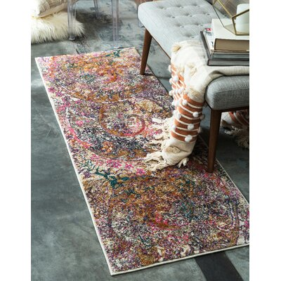 Charlena Abstract Area Rug Rug Size: Runner 22 x 6