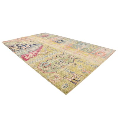 Gloucester Gold Area Rug Rug Size: Rectangle 106 x 165