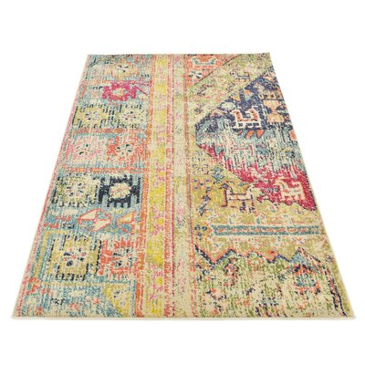 Gloucester Gold Area Rug Rug Size: Rectangle 4 x 6