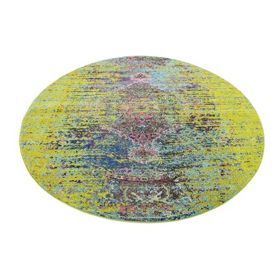 Glenn Machine woven Green Area Rug Rug Size: Round 8