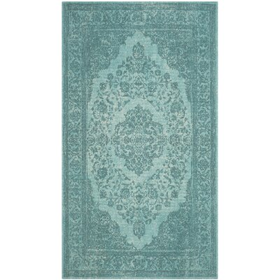 Chelsea Classic Vintage Aqua Area Rug Rug Size: Rectangle 4 x 6