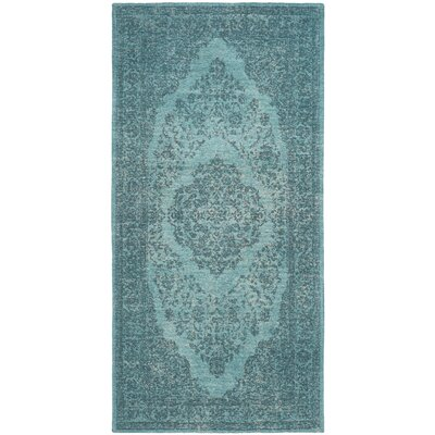 Chelsea Classic Vintage Aqua Area Rug Rug Size: Rectangle 24 x 48