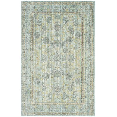 Esmeyer Light Blue/Turquoise Area Rug Rug Size: Rectangle 4 x 6