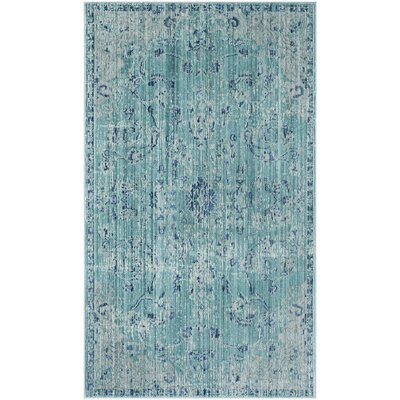 Esmeyer Blue Area Rug Rug Size: Rectangle 3 x 5