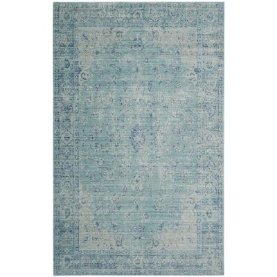 Esmeyer Blue Area Rug Rug Size: Rectangle 5 x 8