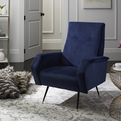 Molly Armchair Upholstery: Navy