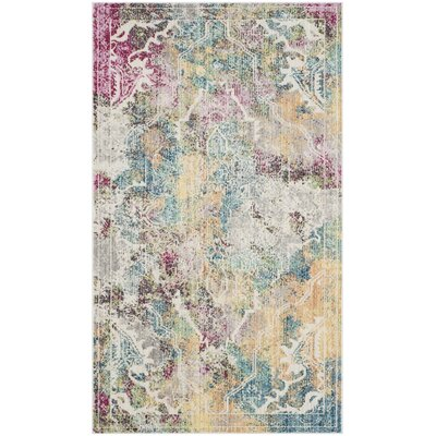Lulu Multi-color Area Rug Rug Size: Rectangle 3 x 5