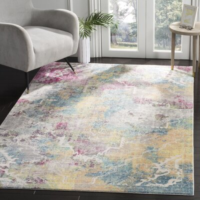 Lulu Multi-color Area Rug Rug Size: Rectangle 5 x 8