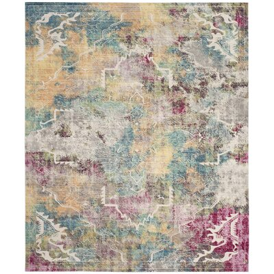 Lulu Multi-color Area Rug Rug Size: Rectangle 8 x 10