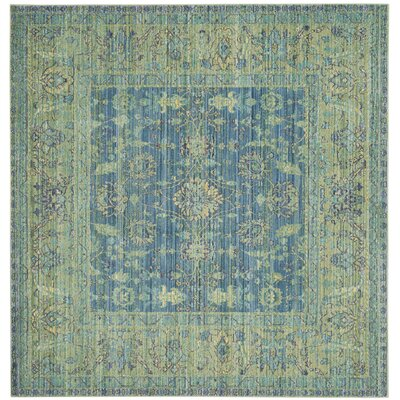 Doline Blue/Yellow Area Rug Rug Size: Square 67