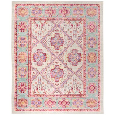 Bangou Spa/Fuchsia Area Rug Rug Size: Rectangle 8 x 10