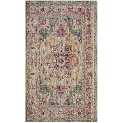 Norwood Grape/Blue Area Rug Rug Size: Rectangle 33 x 53